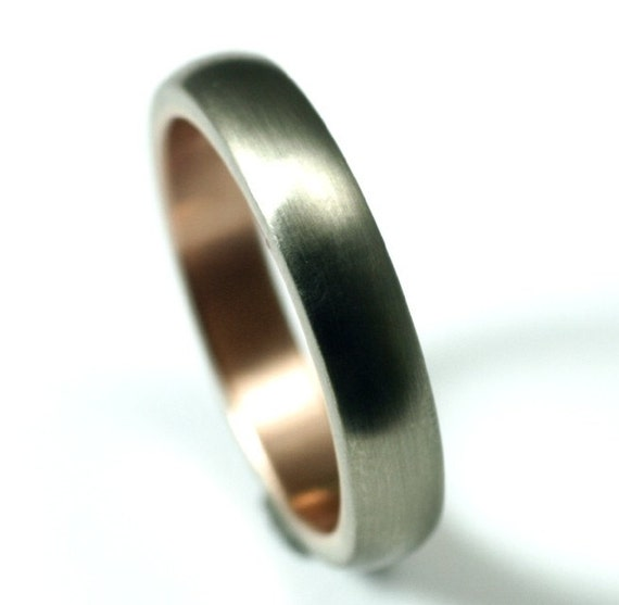 White Gold and Rose Gold Wedding Band - Seamless