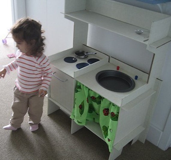 Build a Cardboard Play Kitchen