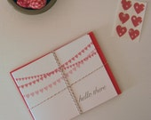 Hearts on a String Notecards