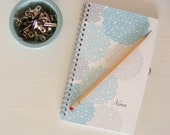 Teal Blooms Personalized Notebook