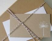Dandelion Foil Imprinted Gift Enclosures in Kraft