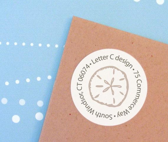 Sand dollar and Starfish Return Address Labels