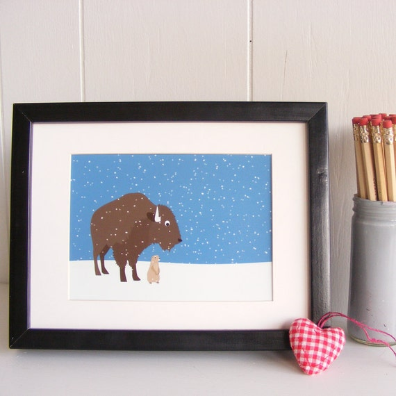 You are Covered - Buffalo in Snow print