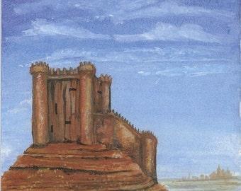 Desert castle print