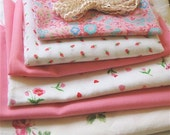 Vintage Fabric Craft Pack -- Shabby Chic Roses