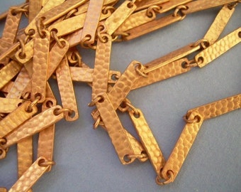 10 ft Copper Hammered Link Chain