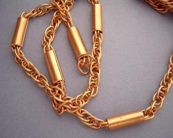 2 Ft Vintage Copper Chain with Tubes