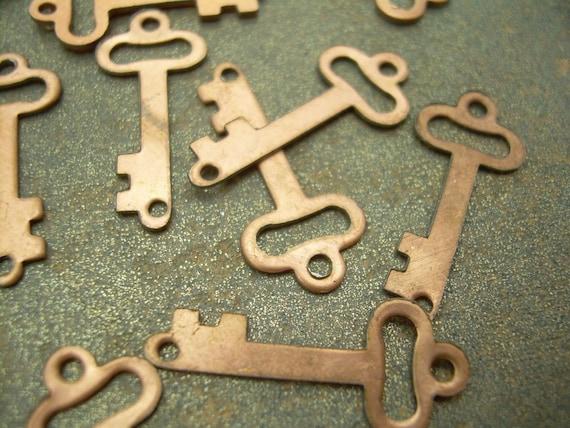 Key Charms - Copper Vintage (12)