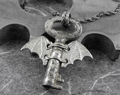 Nocturnal Flight of the Tiny Time Key Artful Hardware Pendant