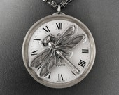 Large Steampunk Dragonfly Necklace - Pizzazz of the Clockwork Dragonfly by COGnitive Creations