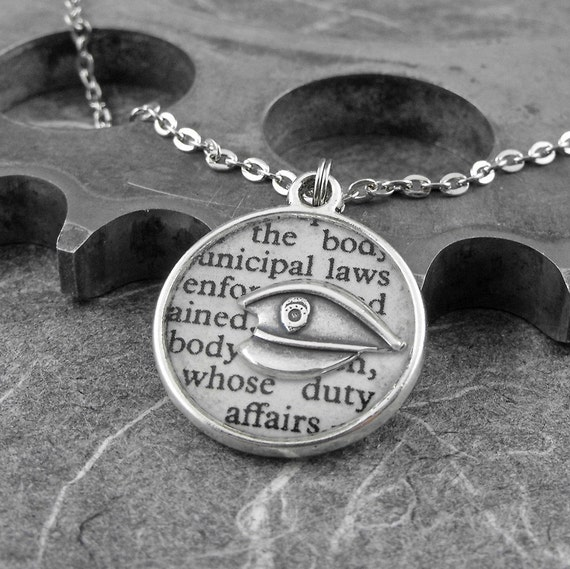 Police Definition Necklace - Defining the Life of a Police Officer by COGnitive Creations