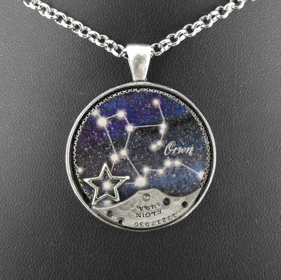 Steampunk Orion Constellation Necklace - Marvelling At Orion's Steambelt by COGnitive Creations