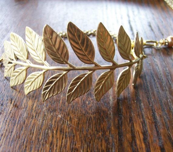 Gold Branch Cuff  Bracelet