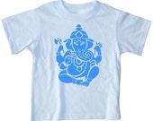 Kids GANESH T shirt ganesha shirt Blue