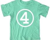 Kids CIRCLE Fourth Birthday T-shirt - Green