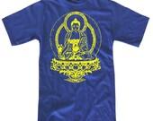 Mens BUDDHA T-shirt S M L XL XXL (royal blue)