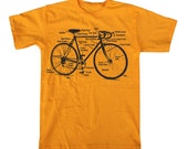 Mens BICYCLE DIAGRAM T-shirt