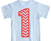 Kids CHEVRON STRIPED First Birthday T-shirt