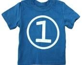 Kids CIRCLE First Birthday T-shirt - Royal Blue