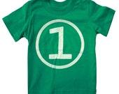 Kids CIRCLE First Birthday T-shirt - Green