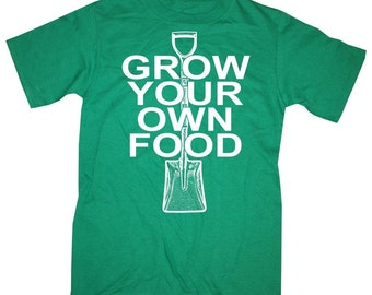 Mens GROW Your OWN FOOD T-shirt