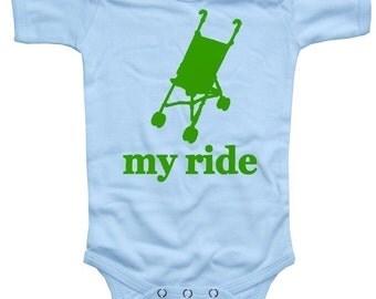 Baby MY RIDE Stroller Funny Bodysuit