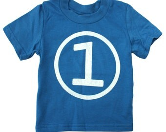 Kids CIRCLE First Birthday T-shirt - Royal Blue