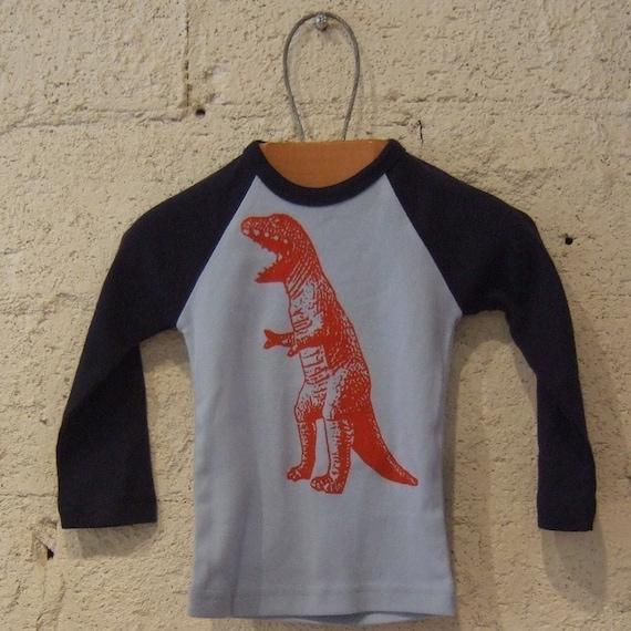 Roaring Red Dinosaur Raglan T-Shirt