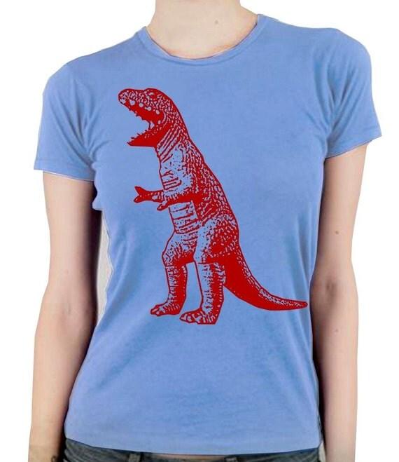 The big bang theory sheldon red t rex dino graphic print womens t