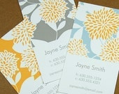 Customized Business Cards - Calling Cards - Vintage Floral Pattern - Set of 30