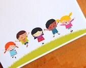 Personalized Teacher Notepad - Customized Notepads - Teacher Gift - Kids Jumping