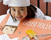 Personalized Placemats for Kids - Girl Chef - olliegraphic