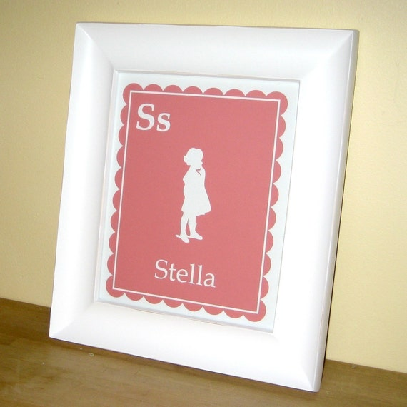 Personalized Silhouette Print - 8 x 10