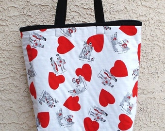 Valentine Large Fabric Tote Bag