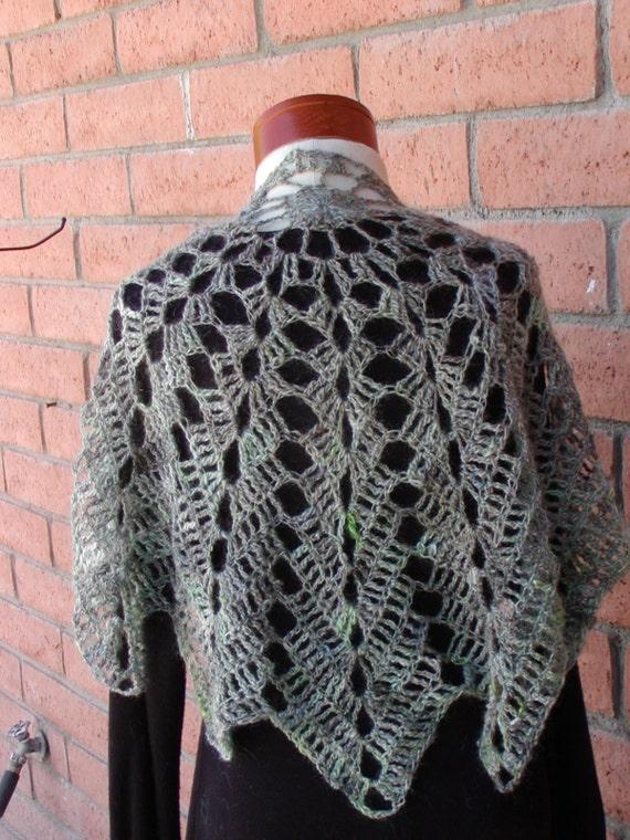 Green Crochet Shawl Pattern