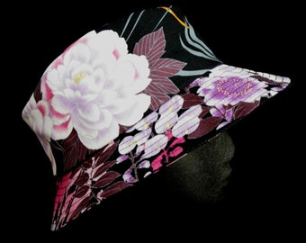 Gorgeous Japaness Flower Print Fabric Hat