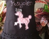 Personalized Pink Polka dot Poodle Tank Dress - Custom Made Sizes 6 mos-Girls 6X