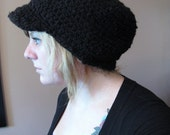 Slouchy Oversized Hat with Little Brim