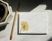 Yellow Poppy --- Letterpress Flat Notes