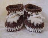 CUTE Sheepskin Crochet Moccasins