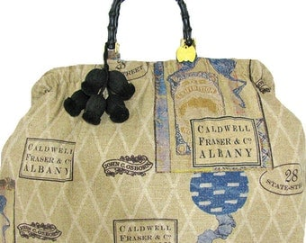 exhibition linen tote,SALE was 178. reduced to 125.