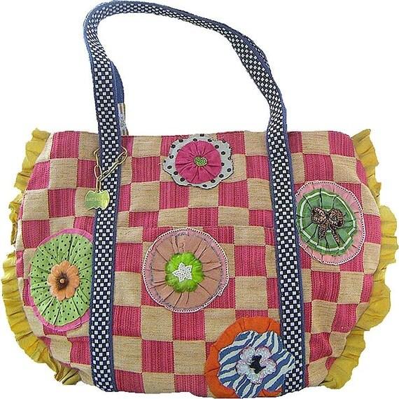 raspberry check bella bag