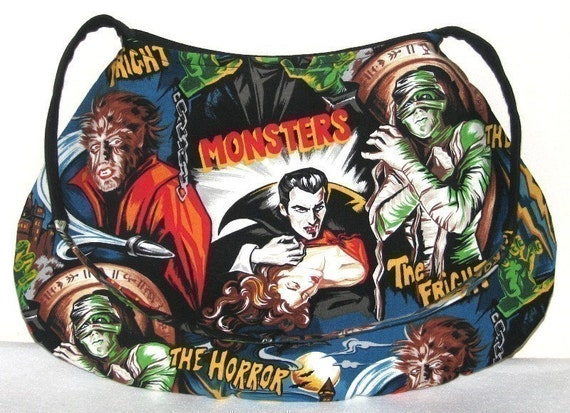 Horror Monster Movie Handbag Purse