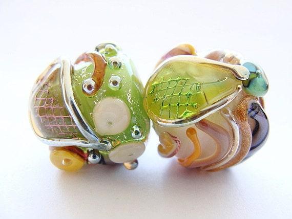 Keeping Secret -  Handmade Lampwork Beads