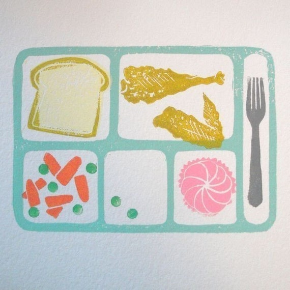 Cafeteria Tray Prints