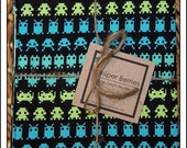 Video Game Pair of Reversible Cloth Lunch Napkins