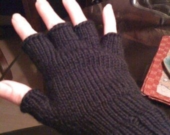 Free Knitting Patterns Gloves Half Fingers : KNITTING PATTERNS FOR GLOVES WITHOUT FINGERS   KNITTING PATTERN