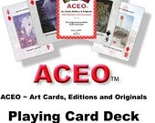 ACEO Playing Card Deck and LE Print Seven Number 8 of 18