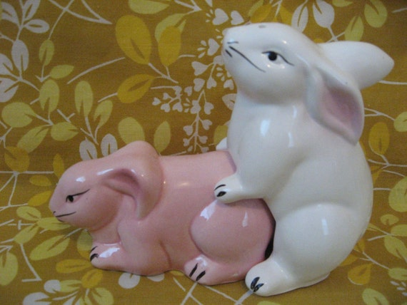 Humping Bunnies Salt and Pepper Shakers