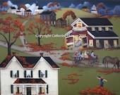 Folk Art Print Annual Barn Dance and Hayride